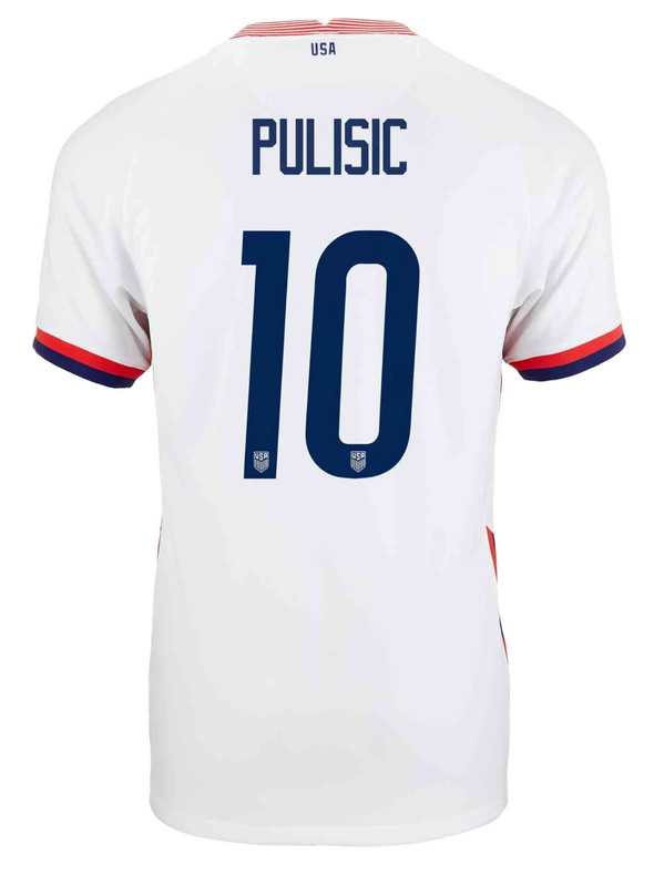 Nike USA Christian Pulisic 2020-21 Home Jersey - MENS