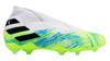 adidas Nemeziz 19+ Junior FG - White/Core Black/Signal Green
