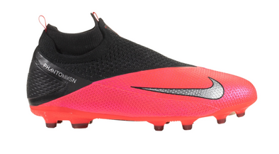 Nike Junior Phantom VSN 2 Elite DF FG/MG - Crimson/Black