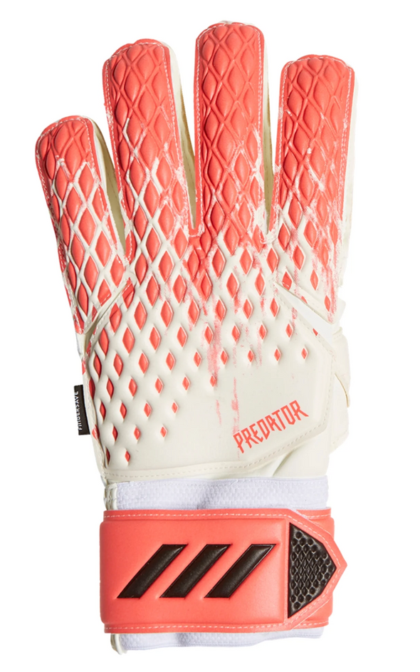 adidas Predator GL Match Fingersave Goalkeeper Gloves - White/Pop