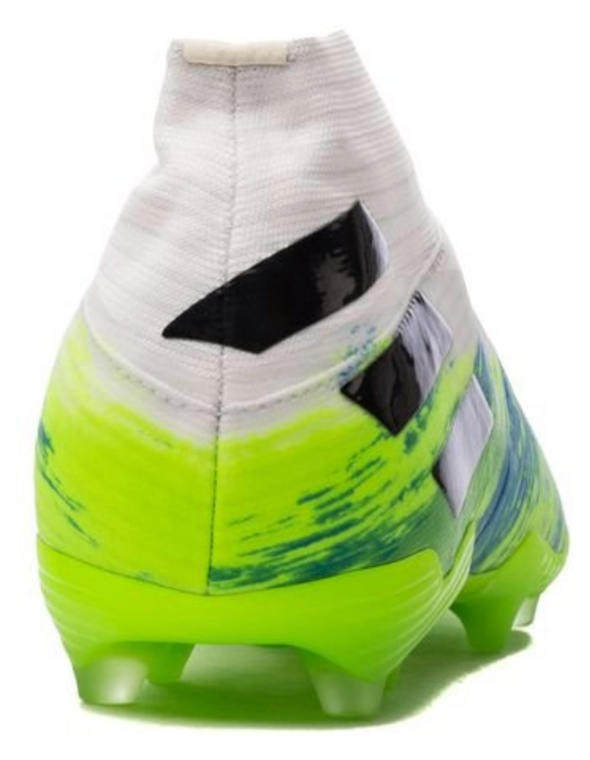 adidas Nemeziz 19+ FG White/Core Black/Signal Green