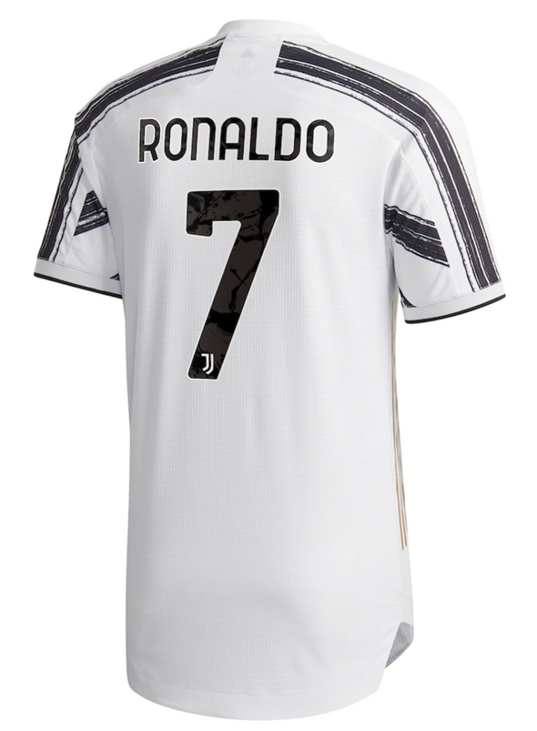 adidas Cristiano Ronaldo 2020-21 Juventus AUTHENTIC Home Jersey - MENS