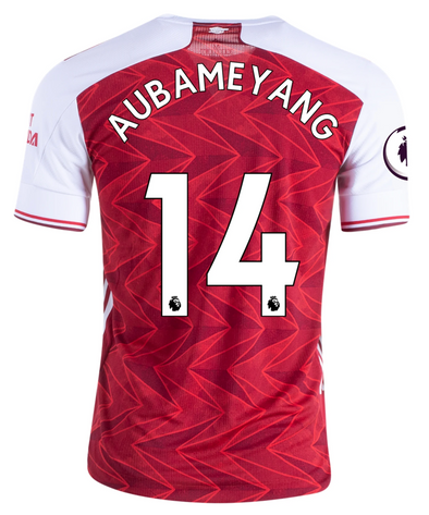 adidas Pierre-Emerick Aubameyang 2020-21 Arsenal AUTHENTIC Home Jersey - MENS