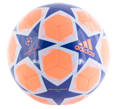 adidas 20 Finale Club Soccer Ball - Coral/Royal/Sky Tint