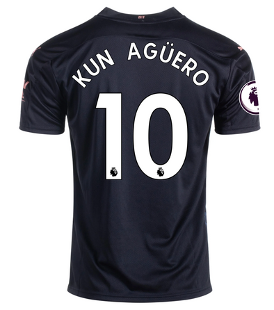 Puma Kun Aguero 2020-21 Manchester City Away Jersey - MENS