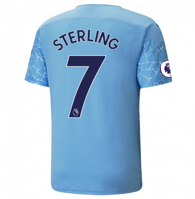 Puma Raheem Sterling 2020-21 Manchester City Home Jersey - MENS