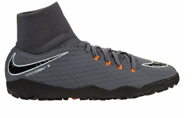 Nike Youth HypervenomX Phantom III Academy DF TF (Dark Grey/Total Orange/White