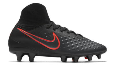 Nike Jr. Magista Obra II FG- Black/Black/Total Crimson