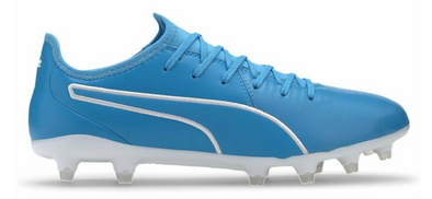 Puma King Pro Firm Ground Soccer Cleat - Luminous Blue/White