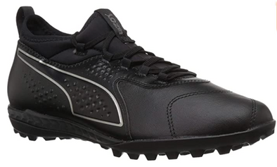 Puma One 3 Leather TT Turf Soccer Shoes- Triple Black