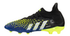 adidas Predator Freak .1 JUNIOR Firm Ground Soccer Cleat -  Core Black/White/Solar Yellow