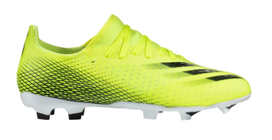 adidas X Ghosted.3 FG Firm Ground Cleat - Solar Yellow/Core Black/Team Royal Blue
