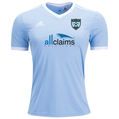 Weston FC Boys Premier adidas Tabela 18 Practice Jersey Light Blue