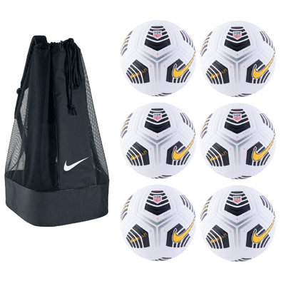 Nike USA Flight Soccer Ball Pack - White/ Black / Laser Orange