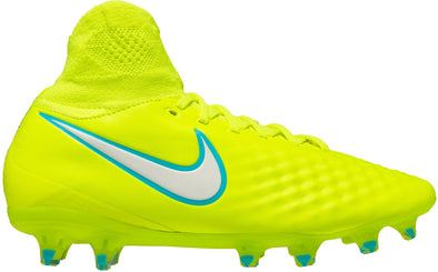 Nike Womens Magista Orden II FG W- Firm Ground Soccer Cleat- Volt/White