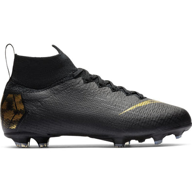 Nike Junior Mercurial Superfly 6 Elite FG - Black-MetallicGold