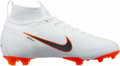 Nike Junior Mercurial Superfly 6 Elite FG - White -Metallic Cool Grey