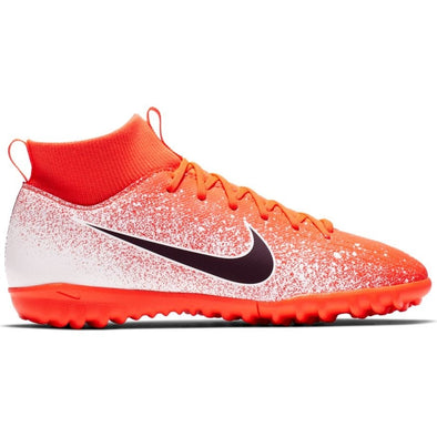 Nike JR Superfly 6 Academy GS TF - White/Crimson