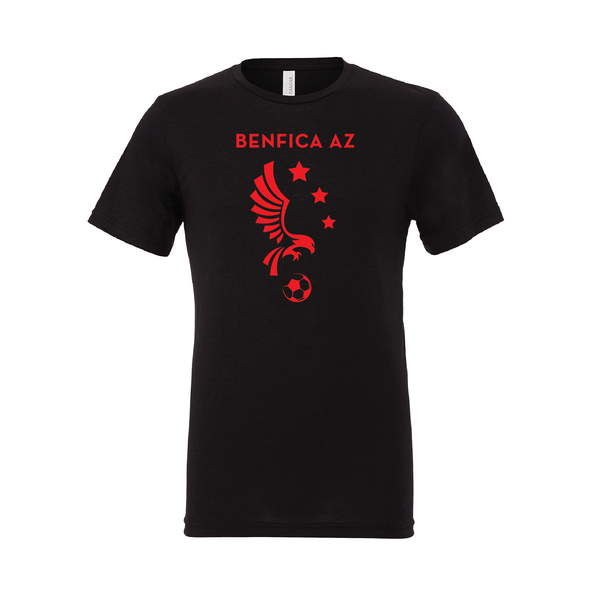 Benfica AZ (Logo) Bella + Canvas Short Sleeve Triblend T-Shirt Solid Black