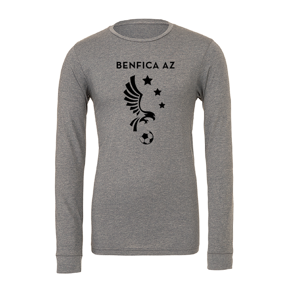 Benfica AZ (Logo) Bella + Canvas Long Sleeve Triblend T-Shirt Grey