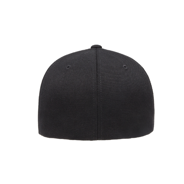 Plainview Old Bethpage FAN Flexfit Wool Blend Fitted Cap Black