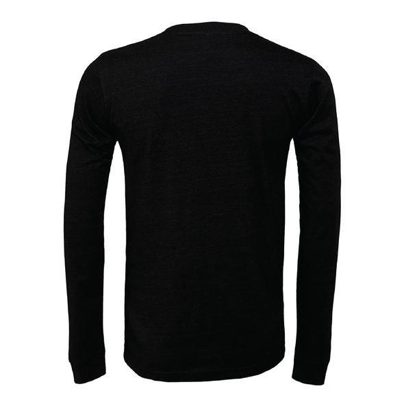 Boynton United (Club Name) Bella + Canvas Long Sleeve Triblend T-Shirt Heather Black