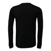 Brazilian Soccer Training (Patch) Bella + Canvas Long Sleeve Triblend T-Shirt Heather Black