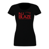 NJ Blaze (Club Name) Bella + Canvas Short Sleeve Triblend T-Shirt Solid Black