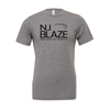 NJ Blaze (Club Name) Bella + Canvas Short Sleeve Triblend T-Shirt Grey