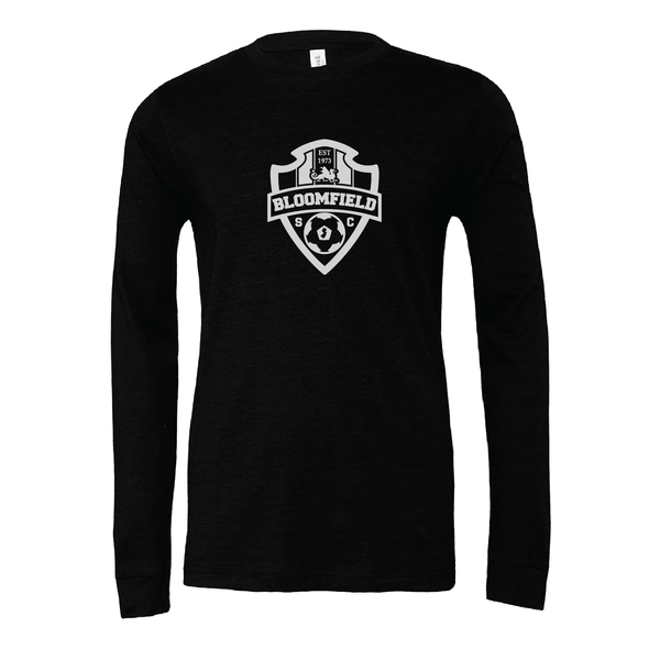 Bloomfield SC (Logo) Bella + Canvas Long Sleeve Triblend T-Shirt Heather Black