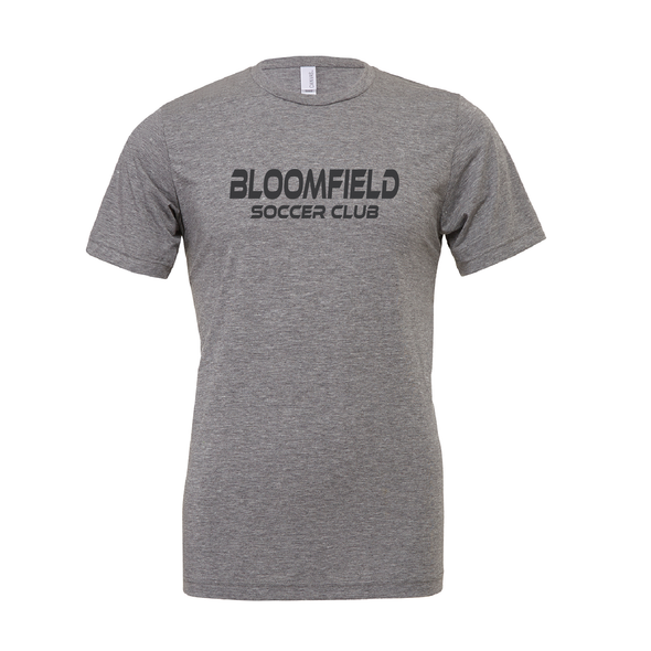 Bloomfield SC (Club Name) Bella + Canvas Short Sleeve Triblend T-Shirt Grey