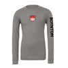 Boynton United (Patch) Bella + Canvas Long Sleeve Triblend T-Shirt Grey