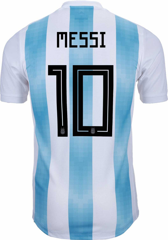 adidas Messi Argentina 2018 World Cup AUTHENTIC Argentina Home Jersey MEN'S - White/Lt.Blue/White