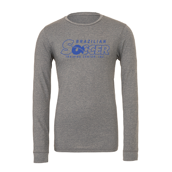 Brazilian Soccer Training (Club Name) Bella + Canvas Long Sleeve Triblend T-Shirt Grey