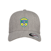 Brazilian Soccer Training Flexfit Wool Blend Fitted Cap Heather Grey