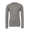 Brazilian Soccer Training (Patch) Bella + Canvas Long Sleeve Triblend T-Shirt Grey