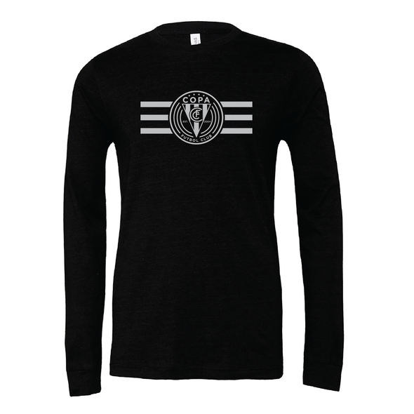 FC Copa (Logo) Bella + Canvas Long Sleeve Triblend T-Shirt Heather Black