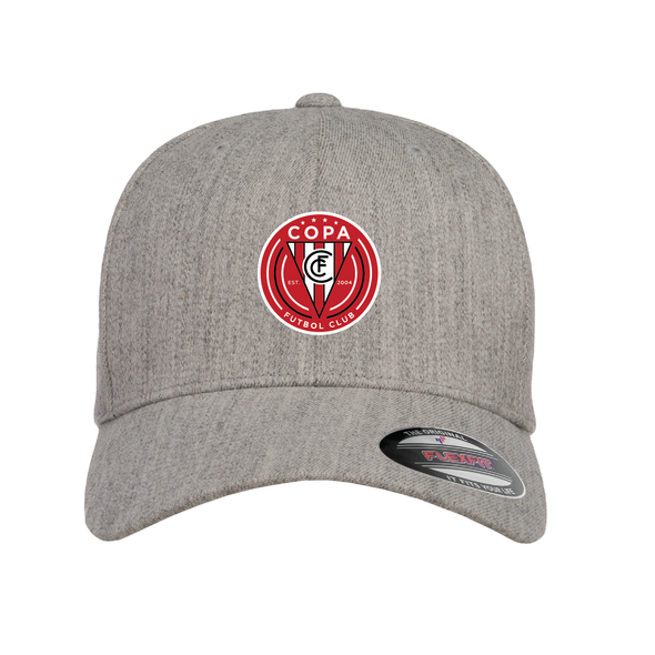 FC Copa Flexfit Wool Blend Fitted Cap Heather Grey