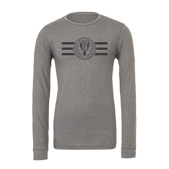FC Copa (Logo) Bella + Canvas Long Sleeve Triblend T-Shirt Grey