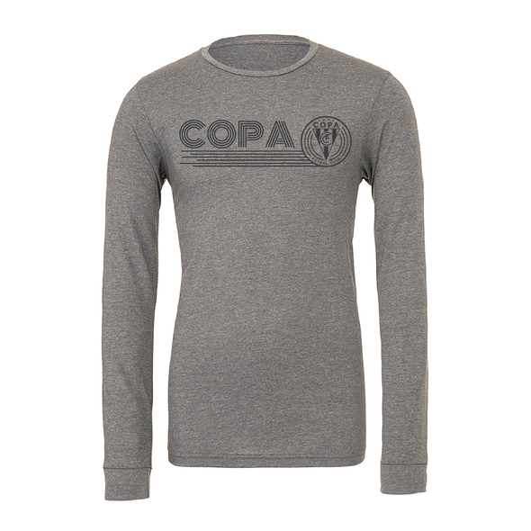FC Copa (Club Name) Bella + Canvas Long Sleeve Triblend T-Shirt Grey