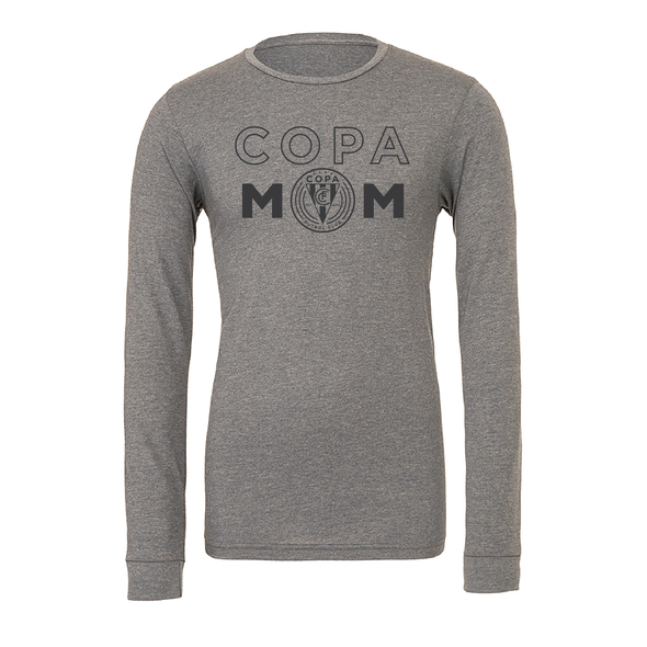FC Copa (Copa Mom) Bella + Canvas Long Sleeve Triblend T-Shirt Grey
