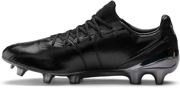 Puma King Platinum Firm Ground Soccer Cleat - Black