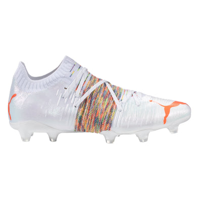 Puma Future Z 1.1 FG/AG Soccer Cleat - White / Red Blast