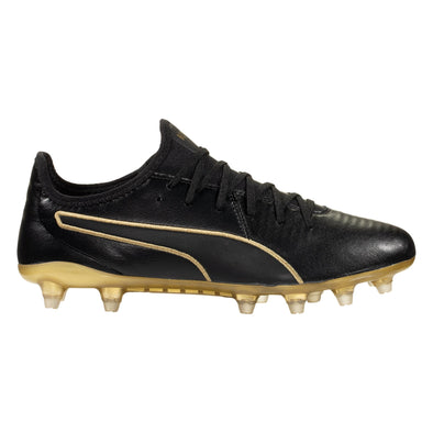 Puma King Pro Firm Ground Soccer Cleat - Black / Team Gold