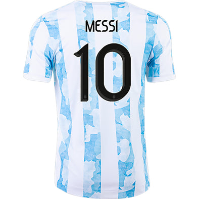 adidas Lionel Messi Argentina 2021-22 AUTHENTIC Home Jersey - MEN'S