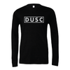 DUSC (Club Name) Bella + Canvas Long Sleeve Triblend T-Shirt Heather Black