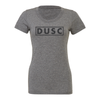DUSC FAN (Club Name) Bella + Canvas Short Sleeve Triblend T-Shirt Grey
