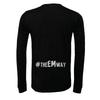 EMSC FAN (Club Name) Bella + Canvas Long Sleeve Triblend T-Shirt Heather Black