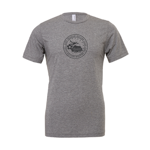 EMSC Farmingdale (Logo) Bella + Canvas Short Sleeve Triblend T-Shirt Grey