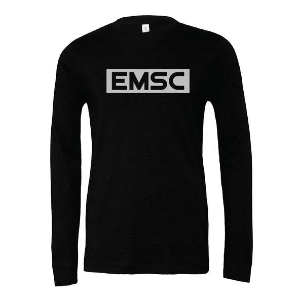 EMSC Farmingdale (Club Name) Bella + Canvas Long Sleeve Triblend T-Shirt Heather Black